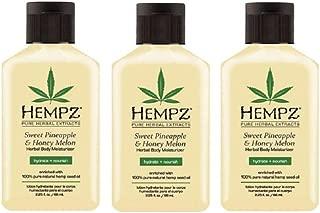 Pack of 3 - HEMPZ Sweet Pineapple & Honey Melon (2.25 oz each) Lotion