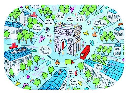 Petit Jour Paris Mini Plateau Motif Arc de Triomphe Multicolore