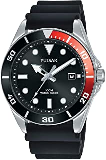 Pulsar PG8297X Black Silicone Mens Watch