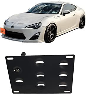 JGR Racing JDM Car No Drill Tow Eye Front Bumper Tow Hole Hook License Plate Mount Bracket Holder Relocation Kit for 2013-2016 Scion FR-S 2015-2016 WRX/WRX STi Forester Impreza Toyota 86