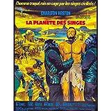 Fabulous Poster Affiche Vieille Affiche Française de Film la Planète des Singes Rétro Poster Cinéma Vintage 91x137cm
