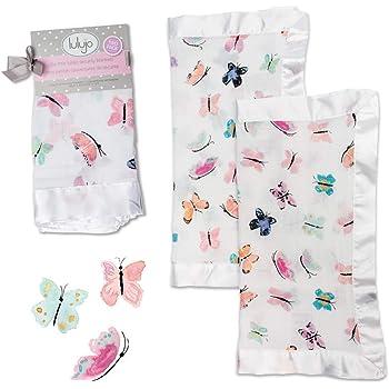 Lulujo Baby - Muslin Security Blanket - 2 Pack - Butterfly