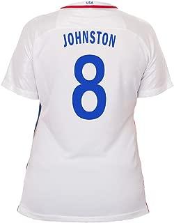 NIKE Johnston #8 USA Home Soccer Jersey Rio 2016 Olympics Women's