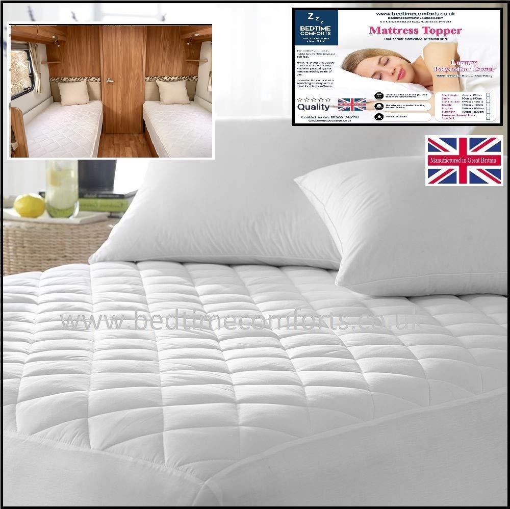 Bedtime Comforts Ltd - Cubrecolchón Acolchado para Caravana/Motor ...