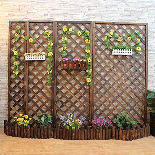 ZENGAI Garden Fence Trellis Fence Decorative Fence Fence Plant Climbing Flower Stand Garden Patio Indoor Outdoor Gardening Easy To Install (Size : 30X150CM)