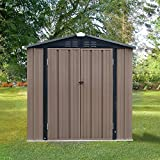<span class='highlight'><span class='highlight'>Panana</span></span> New Metal Garden Shed Garden Storage Outdoor Metal Utility Tool Storage with Lock for Tools (6x8)