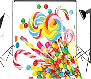 LB Sweet Candy Backdrop for Photography 5x7ft Kids Child Newborn Baby Shower Birthday Party Photo Background Studio Prop Vinyl Customized DZ800