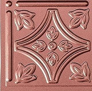 Mirroflex Savannah Backsplash Tiles Kitchen Bathroom Shower Decorative Wall Paneling, Argent Copper, 6''x6'', Sample