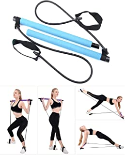 ADO Stap Pilates Stick Portable Pilates Bar Kit with Resistance Band Exercise Bar for Total Body Workout Yoga Fitness Stre...