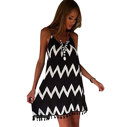 c14db4a1009 ISSHE A Line Summer Dresses Womens Strappy Day Dress Ladies Short Party  Dresses Plus Size Holiday