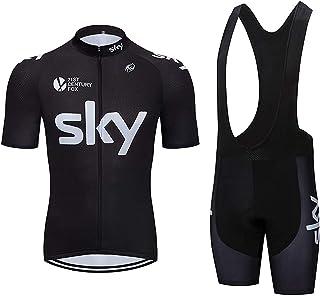 Gutsbox Zestaw męskiej koszulki rowerowej, odzież rowerowa, koszulka z krótkim rękawem + spodenki rowerowe, szybkoschnące,...
