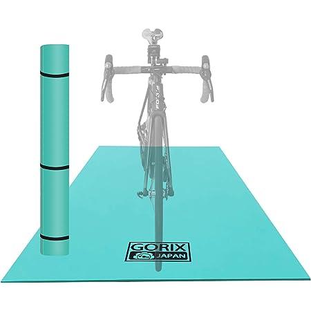 GORIX(ゴリックス) トレーニングマット 自転車 [ 防振 防音 床の保護マット 折りたたみ式 ] サイクルマット エアロバイク 室内スポーツ メンテナンス ローラー台 (GX-MAT)
