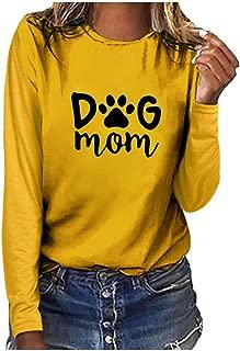 LEKODE Women T-Shirts Fashion Printed O-Neck Long Sleeve Tops