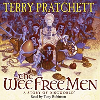 The Wee Free Men     Discworld Book 30, (Discworld Childrens Book 2)              By:                                                                                                                                 Terry Pratchett                               Narrated by:                                                                                                                                 Tony Robinson                      Length: 3 hrs and 35 mins     11 ratings     Overall 4.9