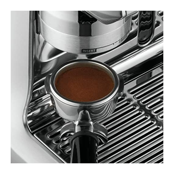 Breville Fully Automatic Espresso Machine, Oracle Touch 5 SWIPE. SELECT. ENJOY: With automation at every stage, simply swipe and select for espresso, long black, latte, flat white or cappuccino and enjoy caf? quality coffee at home DOSE AMOUNT: The integrated conical burr grinder automatically grinds, doses and tamps 22 grams of coffee, similar to the commercial machine in your favorite cafe PRECISE WATER TEMPERATURE: The difference between an ashy or balanced tasting espresso can be caused by temperature change as little as 2?F. The Oracle Touch uses digital temperature control (PID) technology, this ensures the temperature is kept at its optimum range.