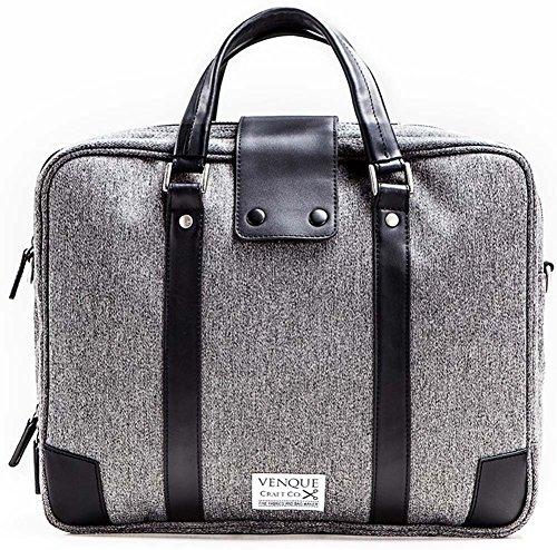 Venque Hamptons Laptoptas 15,6 inch Grijs Black Editie