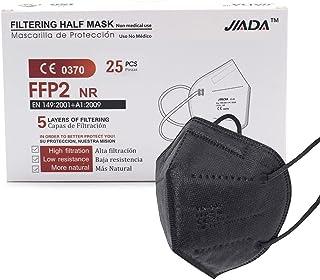 ASTORMEDIC Mascarillas FFP2 Jiada - Homologadas CE - para Adultos [25 unidades] Mascarilla de Protección con 5 capas. Alta...