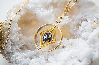 Collana Planet, regalo di gioielli galassia per le donne, gioielli celestiali, gioielli di lapislazzuli, collana di spinne...