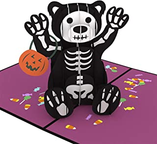 Lovepop Halloween Bear Pop Up Card - 3D Card, Halloween Cards, Pop Up Halloween Card, Bear Greeting Card, Halloween Card f...