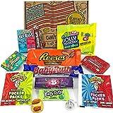Mini boîte American Candy | Sélection coffret bonbons confiseries et chocolats | Assortiment inclut Reeses, Nerds, Jolly Rancher, Warheads | Coffret cadeau vintage de 13 pièces