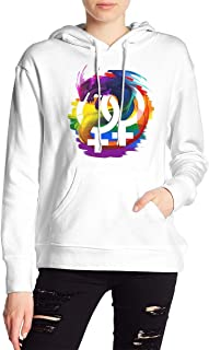 VJJ AIDEAR LGBT Mean Lesbian Rainbow1 Women's Sweater Printed Hoodied Long Sleeve Coat