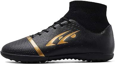 Loykind Unisex De Alta Top Fútbol Botas, Zapatos Rotos Uñas De Fútbol Femenino Outdoor Training Zapatillas De Atletismo Zapatos Tacos Adecuados para Los Adolescentes