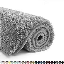 Suchtale Bath Rug for Bathroom Non Slip Bathroom Mat (20 x 32, Grey) Water Absorbent Soft Microfiber Shaggy Bathroom Rug M...