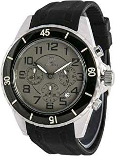 Watch by Olivera For Men, Chronograph, Rubber - OG665