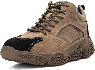 SafeByAlex Steel Toe Work Fashion Shoes for Men and Women Leather and Fabic Kevlar Midsole for Industrial and Construction