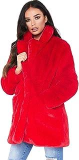 a67386122db9f Femme Manteau Fourrure Synthétique Mode Classique Veste Revers Manche Longue  Oversize Cardigan Gilet Blouson en Peluche