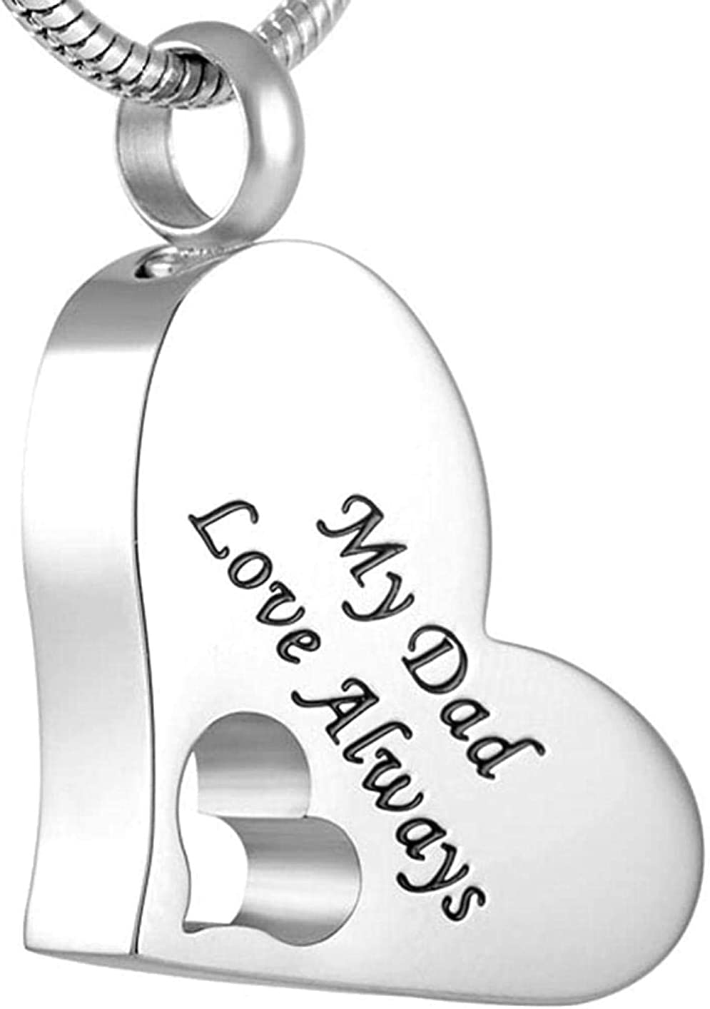 ZHSDTHJY Necklace Sales Cremation Translated Jewelry Ashes Dad Memorial Pendants