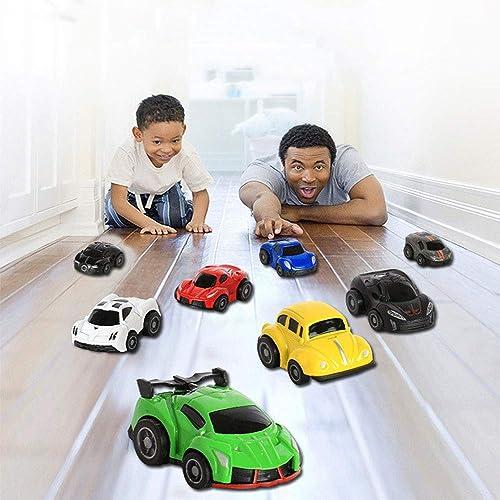 Boonlig Auto Spielzeugkiste der Kinder, Karikatur-Legierungs-Auto Kinder Spielzeug Set Mini Pocket Car Simulation Modell