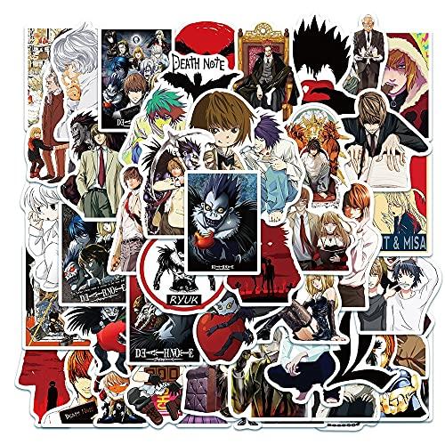 SHUYE Death Note Anime Personaje de Dibujos Animados Graffiti Pegatinas monopatín Trolley Caso Mano Cuenta decoración Juguetes 50 Uds