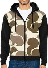 HEHE TAN Men's Pullover Hood Squirrel Zip Hoodies Hooded Classic Jackets Coats