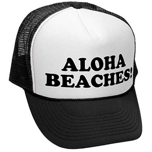 81e267f836e The Goozler Aloha Beaches! - Funny Party Joke Gag - Adult Trucker Cap Hat