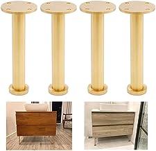 4 x meubelpoten, metalen bankpoten, massief zuiver messing, geborsteld gepolijst oppervlak, perfect voor bank salontafel a...