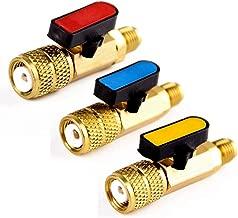 3 Piezas ALONGB Aire Acondicionado Refrigeraci/ón V/álvula de Acceso Tubo de 6 mm de di/ámetro Exterior Servicio 4.06de Longitud