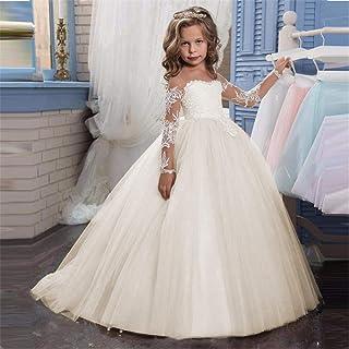 458780704 Amazon.es: vestidos de primera comunion niña - Beige