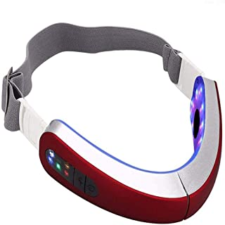 YZXZM Facial Massager Electric Micro-Current Face Massager Hot Compress Therapy Face Slimming Instrument V Face Lifting To...