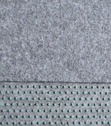 Kunstrasen Rasenteppich mit Noppen angenehm weich Farbe: hell - grau in verschiedenen Größen