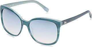 Lacoste Women's L747S 466 57 Sunglasses, Black (Striped Petroleo)