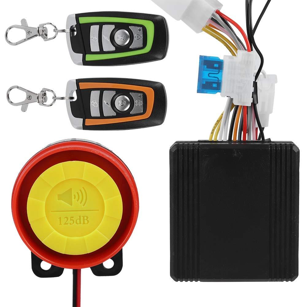12V Universal Motorcycle Alarm System Remote Control Engine Start 125dB