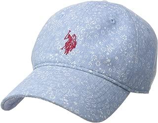 Women's Ditsy Flower Denim Adjustable Baseball Cap, Light Blue, One Size
