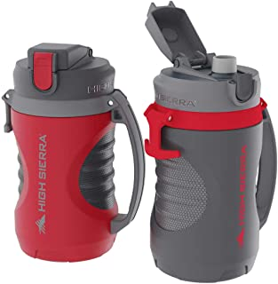 High Sierra 64oz Max-Hydrate Sport Jugs, 2-pack, Red/Gray