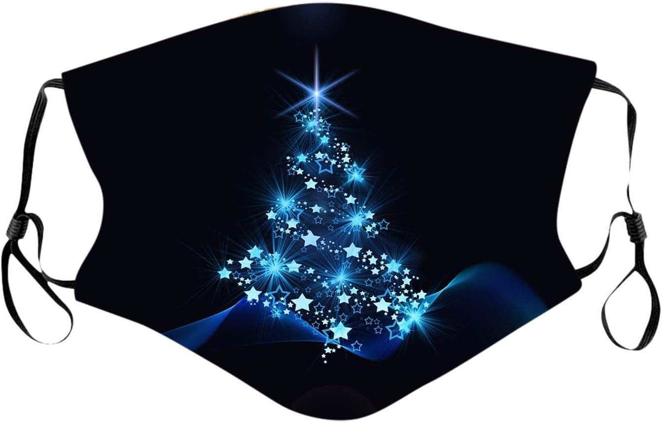 Fenverk Xmas Mundschutz Christmas Mundnaseschutz Weihnachten Mund und Nasenschutz Waschbar Wiederverwendbar Multifunktionstuch Atmungsaktiv Staubschutz Weihnachts Bandana Damen Stoffmundschutz
