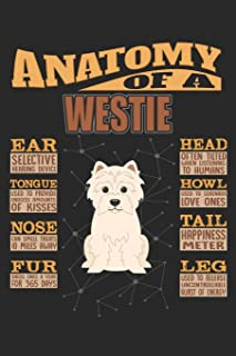 Anatomy Of A Westie: Anatomy Of A West Highland White Terrier Notebook Journal 6x9 Personalized Customized Gift For West Highland White Terrier Mom Dad Lined Paper