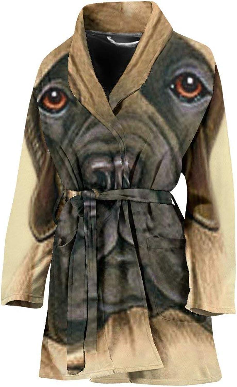 English Mastiff Dog Print Women's Bath Robe