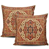 LEKAIHUAI Home Decoration Throw Pillow Covers Persian Rug Pillowcases Square Two Sides Print 18x18 Inches Set of 2