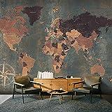 murando - Papier peint intissé 200x140 cm - Papier peint - Tableaux muraux – Déco - XXL Carte du monde k-A-0057-a-b