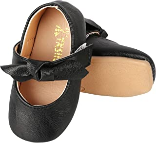 UniBaby7 Baby Girl Shoes Soft Sole Ballet Flats Baby Walking Shoes with Flowers Infant Mary Jane Dress Crib Shoes for Toddler Girls